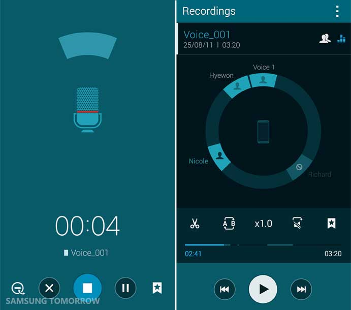 Meeting Mode and the Voice Recorder