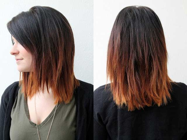 Dark to Brown Ombre Hair for Shoulder Length Hair