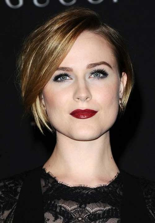 Evan Rachel Wood Straight Bob Hairstyle
