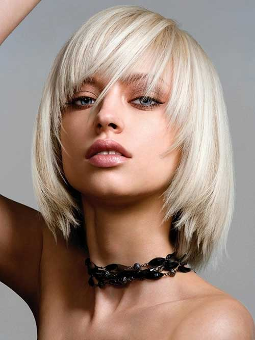 Modern Look Layered Blonde Straight Hairdo