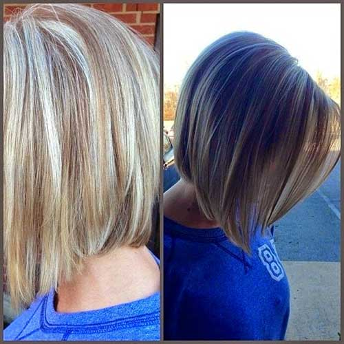 Nice Straight Bob Hairstyle Back Views