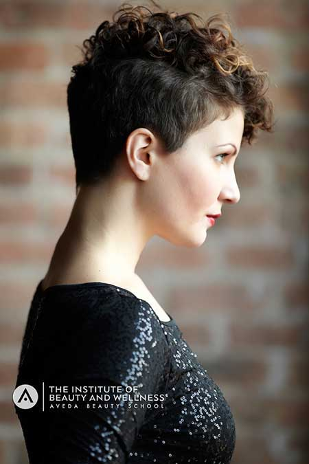 Nice and Unique Pixie Cut with Awesome Curly Top Section