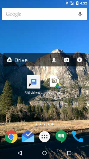 Pin file or a folder with Google Drive