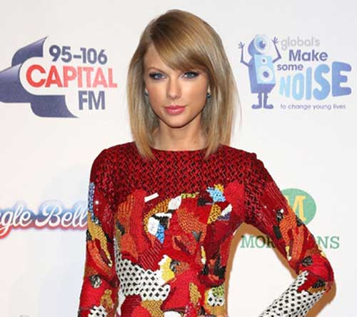 Taylor Swift's Short Straight Hair with Bangs
