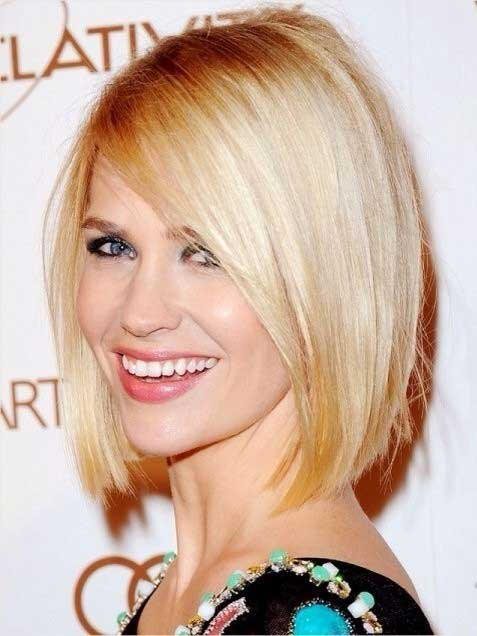 Blunt Short Bob Haircuts for Long Face