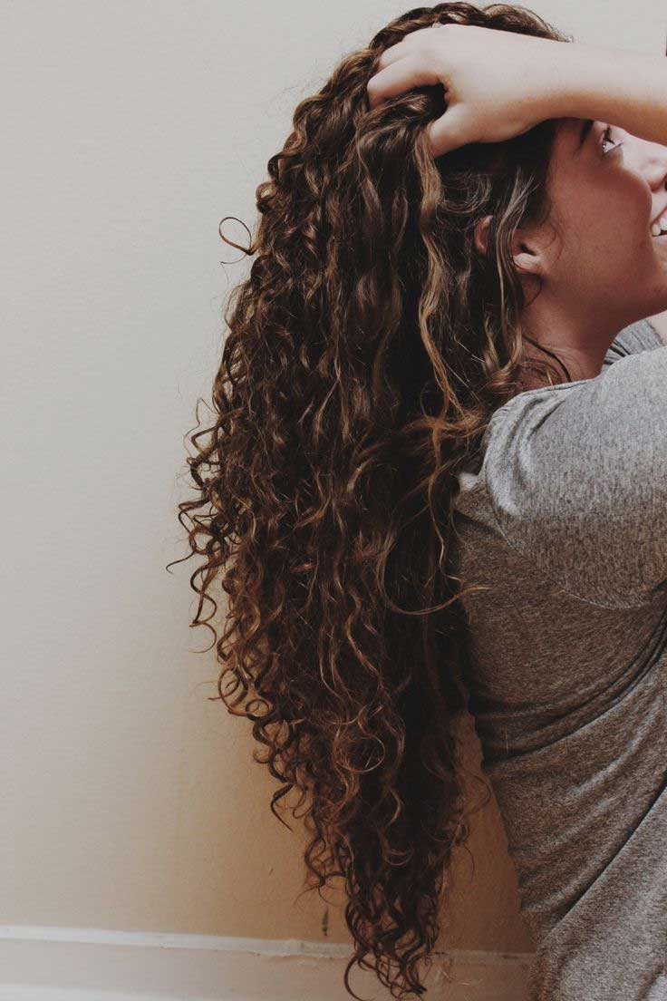 easy curly hairstyles, curly hair hairstyles, hairstyles for long hair