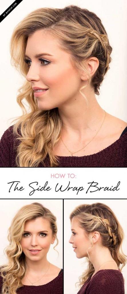 sideways braids