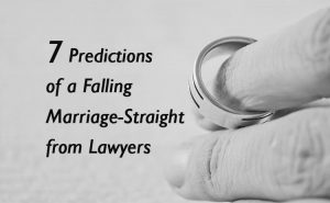 7 predictions of a falling marriage