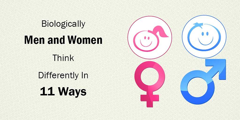 Men and women think differently