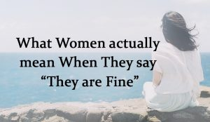 What Women actually mean