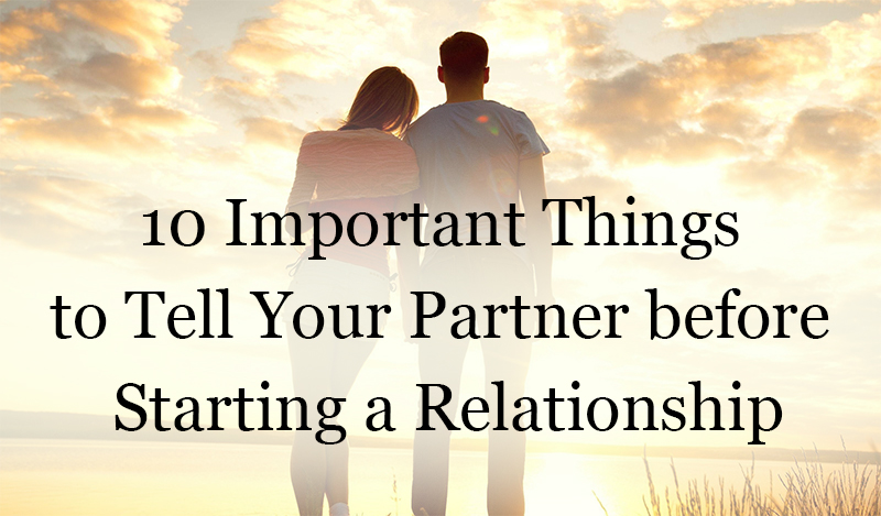 before starting a relationship