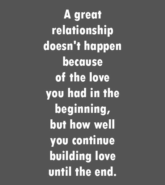 Relationships that start fast, end fast