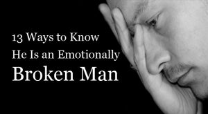 Emotionally broken man
