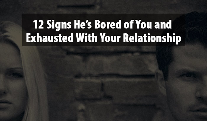 exhausted with your relationship