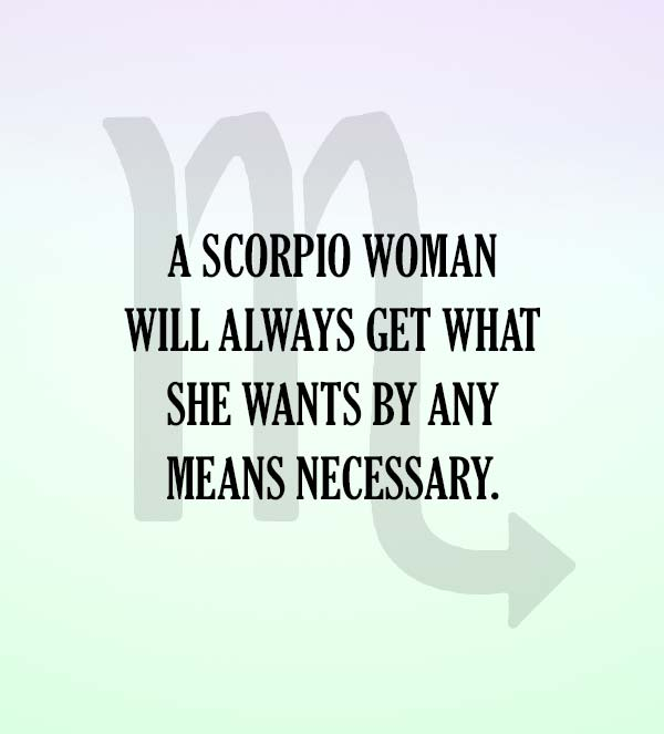 signs that a scorpio woman likes you