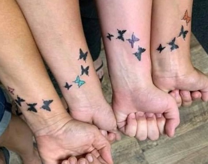 Four sisters tattoo