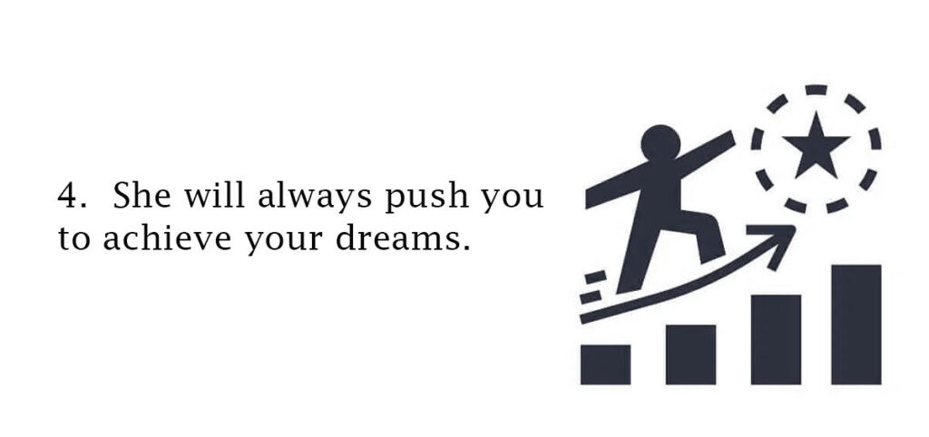 will always push you to achieve your dreams