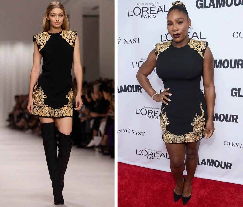 Serena Williams wore the Balmain dress