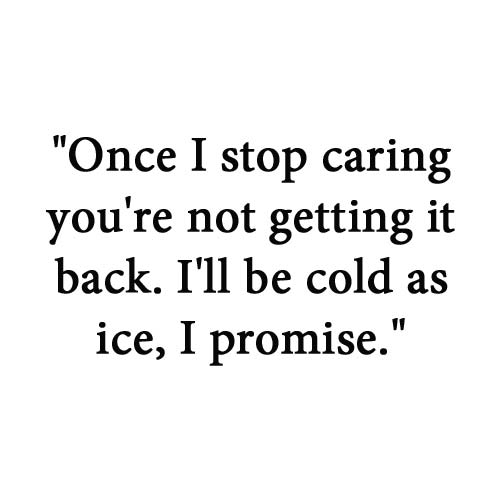 Stop Caring Once