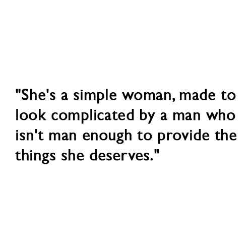 a simple woman, made