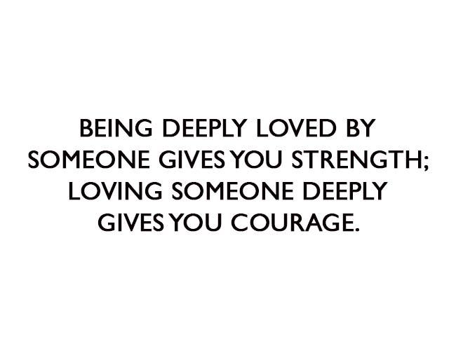 Deeply Loving someone