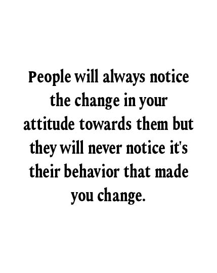 people always notice